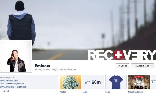Eminem, më shumë se 60 milionë Likes në Facebook