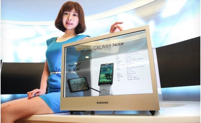 Samsung e para me ekran transparent