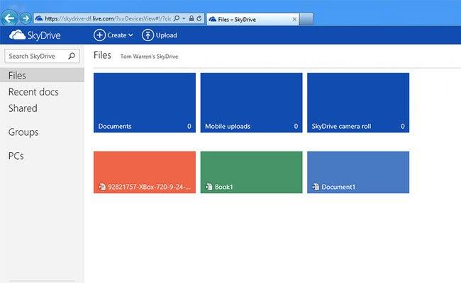 SkyDrive nga Microsoft me dizajn të ri