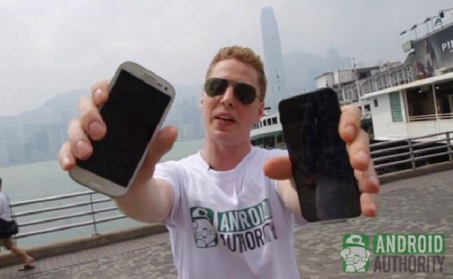 iPhone 5 dhe Galaxy S3 – Testi i hedhjes