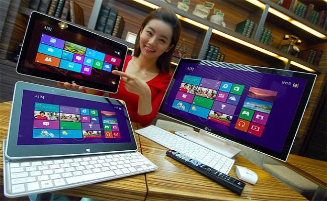 LG publikon pajisjet me Windows 8