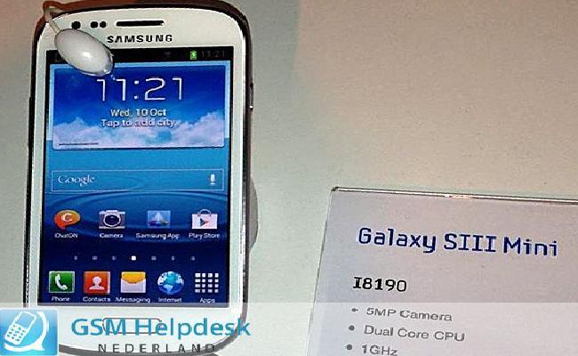 Zbulohen foto të Samsung Galaxy SIII Mini