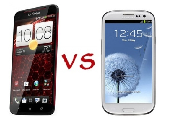HTC Droid DNA vs Samsung Galaxy SIII