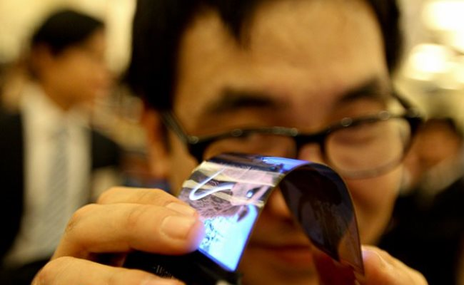 Samsung demonstron ekran elastik