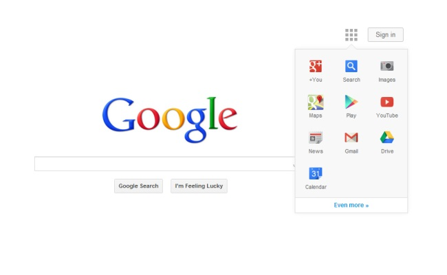 Google teston uebfaqen e saj me linkat navigues
