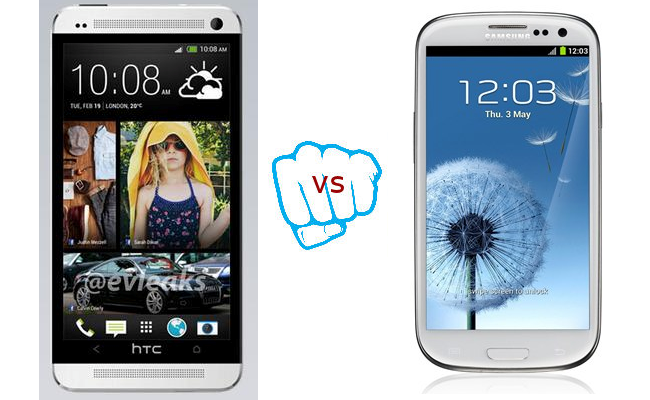 HTC One vs Samsung Galaxy S3