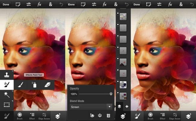 Publikohet Adobe Photoshop Touch pӫr Smartphone