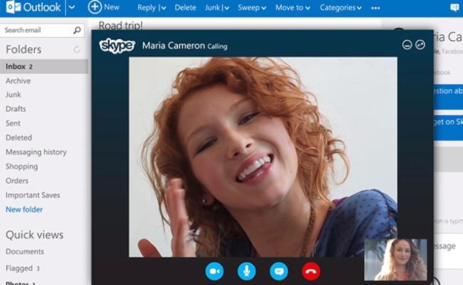 Skype ne Outlook