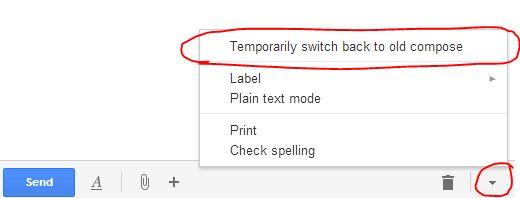 gmail compose e vjeter