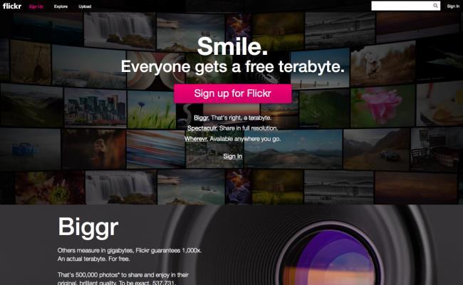 Flickr nga tani me 1TB hapësirë pa pagesë