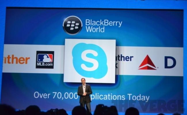 Skype nga tani në dispozicion për BlackBerry Z10