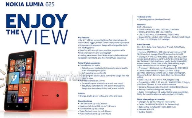 Paralajmërohet Nokia Lumia 625