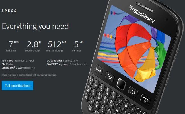 Prezantohet modeli BlackBerry 9720 me platformë të vjetër