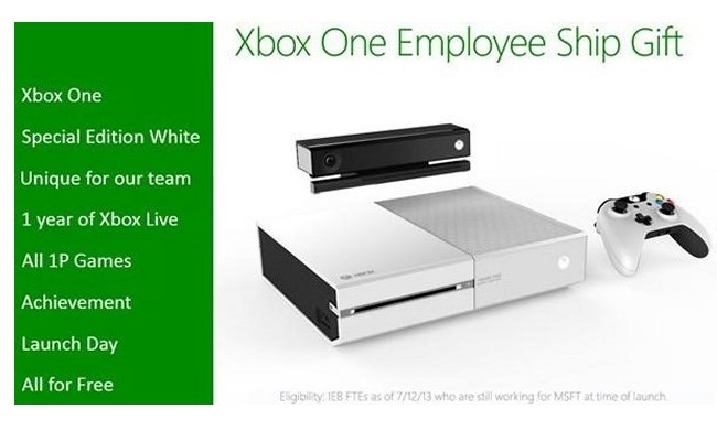 Punonjësit në Microsoft mund të marrin Xbox One të bardhë