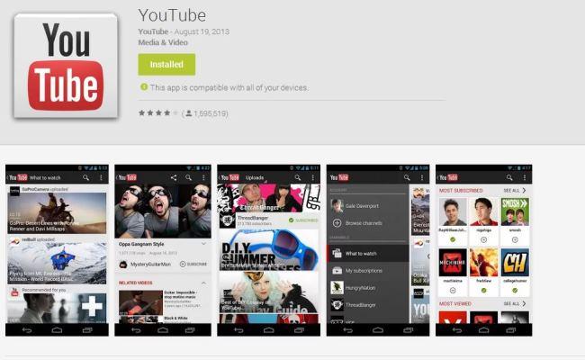 Përditësimi i ri i Youtube-it për Android me plotë ndryshime