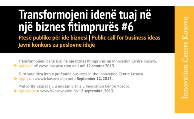 Thirrje për ide biznesi