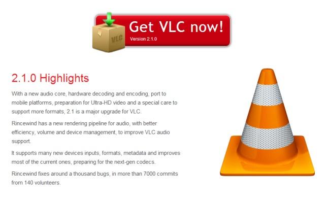 Versioni i ri VLC 2.1 në dispozicion për shkarkim