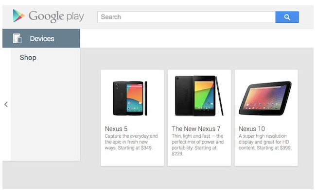 Nexus 5 gabimisht shfaqet në Google Play Store