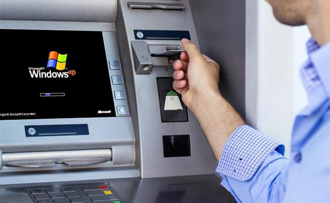 Rreth 95 % e bankomateve në botë me Windows XP