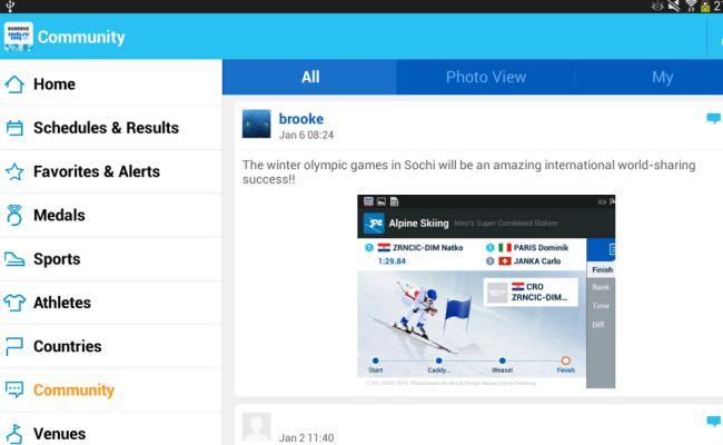 """Samsung lanson aplikacionin për lojërat Olimpike dimërore """"Sochi 2014 WOW"""""""