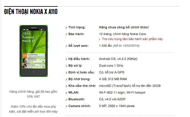 Nokia i parë me platformën Android rreth 80€
