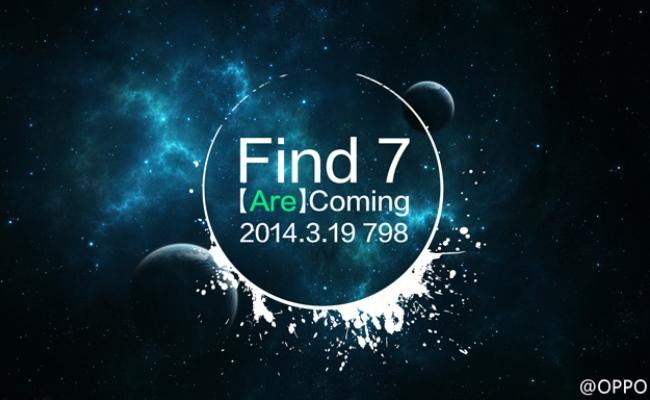 Oppo Find 7 lansohet me 19 Mars