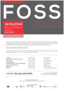 FOSS Boot Camp posteri