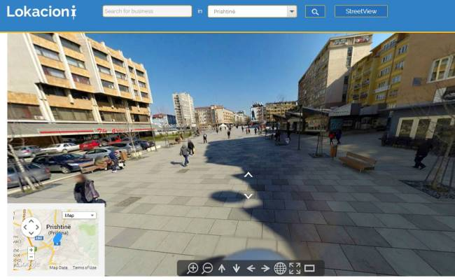 Lokacion.com, sjell Street View në Kosovë