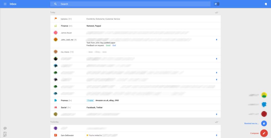 Google Gmail redizajn 1