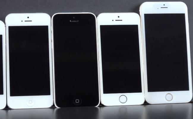 Edhe një video krahasim i iPhone 6 me modele tjera!