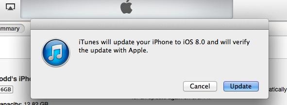 iOS 8 Perditesimi