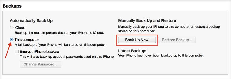 Apple Backups