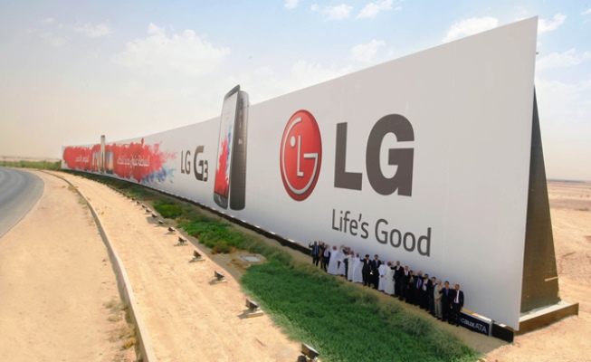 LG shpalos reklamën (Billboard) me të madhe në botë