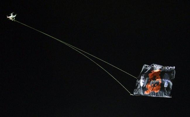 """Heroi ynë i ri që ngriti flamurin në Beograd """"DJI Phantom 2"""""""