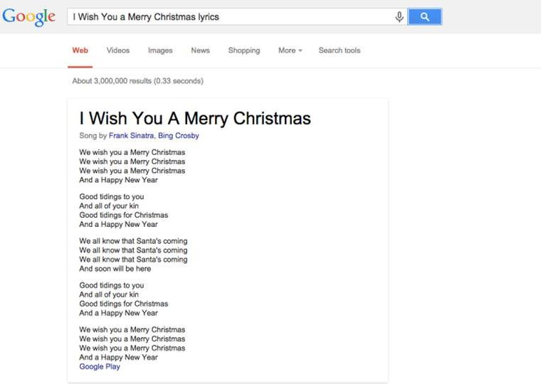Google Song lyrics