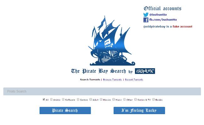 IsoHunt kthen prapë The Pirate Bay, mirëpo me disa ndryshime