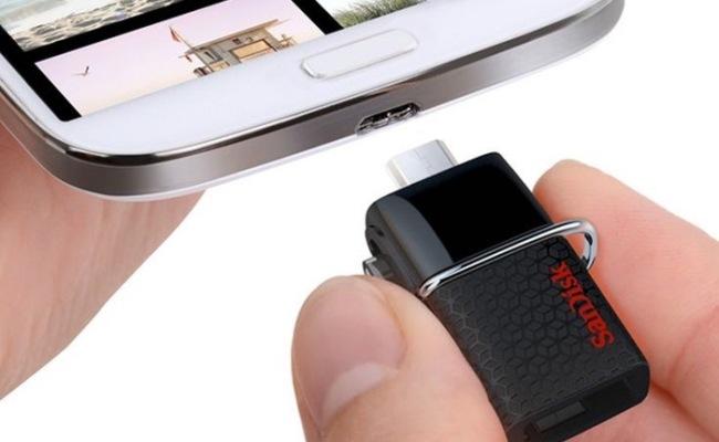 Lansohet Flash memoria SanDisk USB 3.0 për smartphone