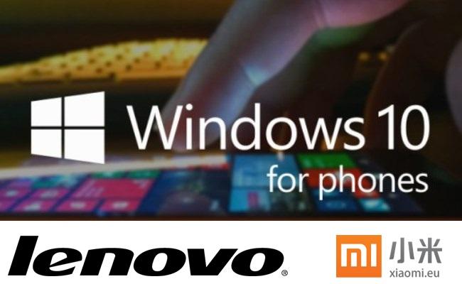 Lenovo dhe Xiaomi në procesë smartphone-t me Windows Phone
