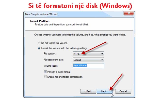 Si të formatoni një disk (Windows)