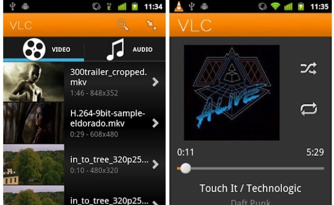 VLC Player beta për Android