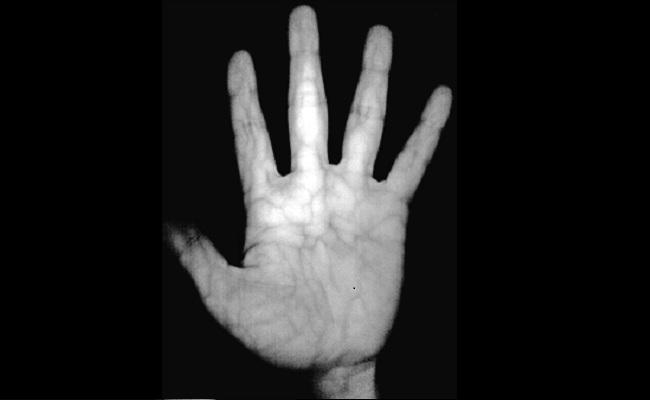 Fjalëkalimi në pëllëmbë te dorës