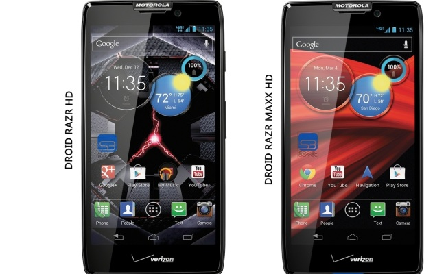 Motorola Droid RAZR HD dhe Maxx HD nga 18 Tetori