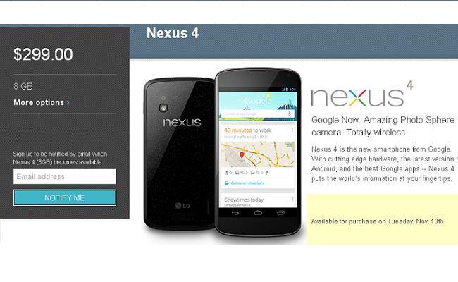 Google Nexus 4 dhe Nexus 10 nga sot në shitje