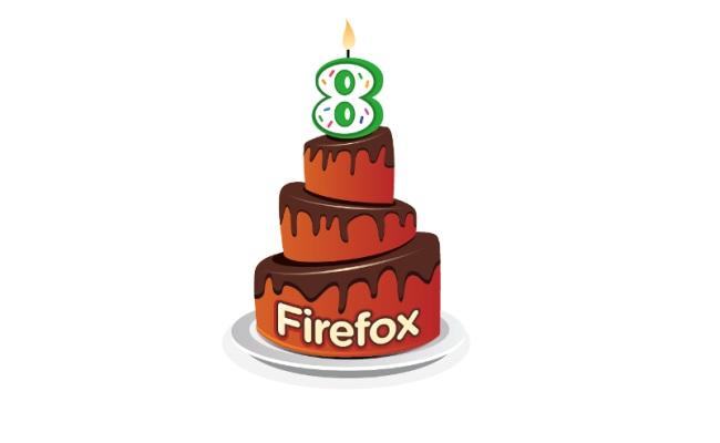 Firefox mbushë 8 vjet