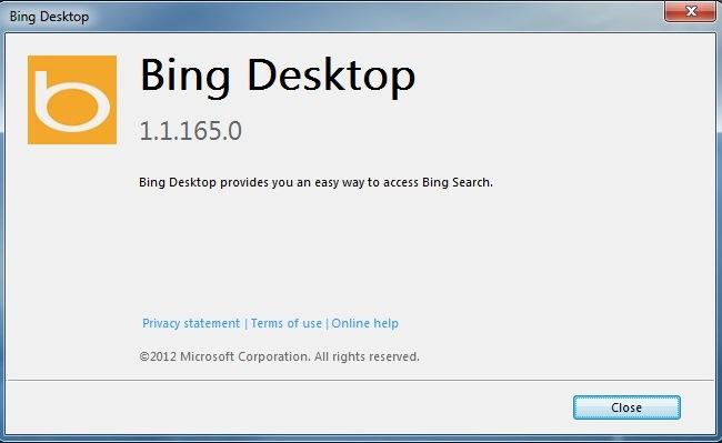 Microsoft përditëson softuerin Bing për desktop