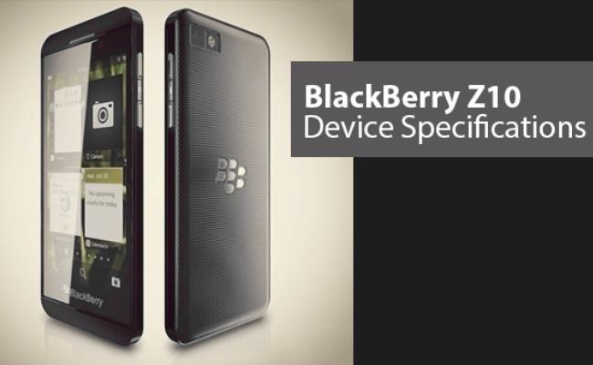 Konfirmohen  specifikat për BlackBerry Z10