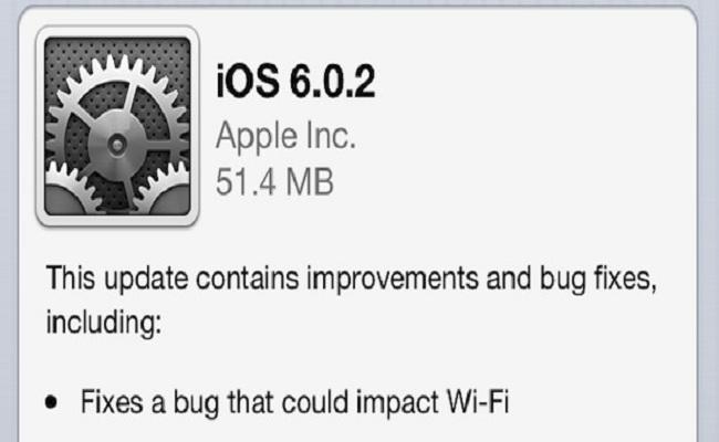 Apple lanson versionin 6.0.2 të iOS