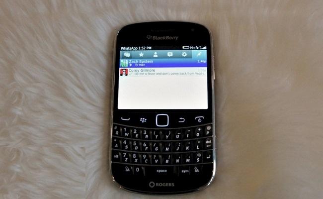 Ska WhatsApp për Blackberry 10