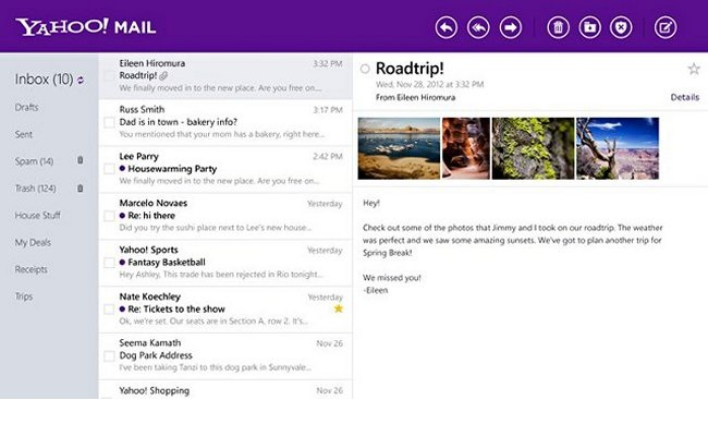 Ri-dizajnohet Yahoo Mail