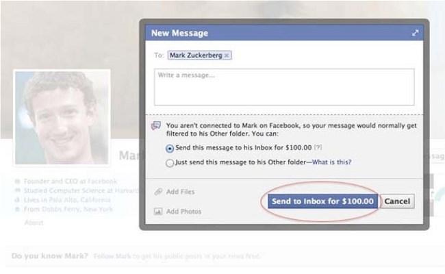 Dëshironi ti dërgoni mesazh Mark Zuckerberg, ju kushton 100$!
